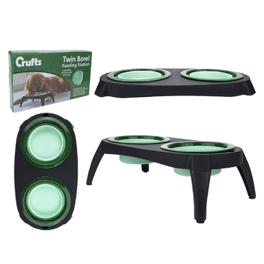 Crufts Travel Bowls Feeding Station - only5pounds.com