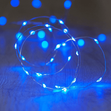 Decorative String Fairy Lights Battery Powered Blue 40 LED - 2m - only5pounds.com