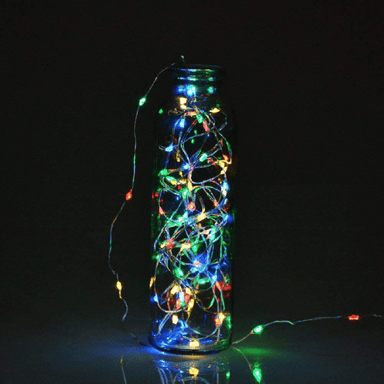 Decorative String Fairy Lights Battery Powered Multi Colour 20 LED - 1m - only5pounds.com