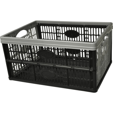 Flat Pack Plastic Storage Crate - 32L - only5pounds.com