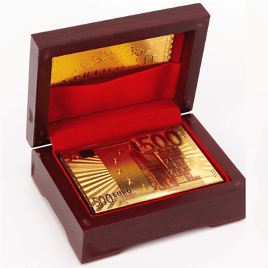 Gold Plated 500 Euro Note Playing Cards Gift Set - only5pounds.com