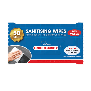 Hand Sanitising Wipes - 50 Pack