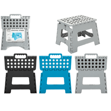 Heavy Duty Folding Stool - Assorted Colours - only5pounds.com