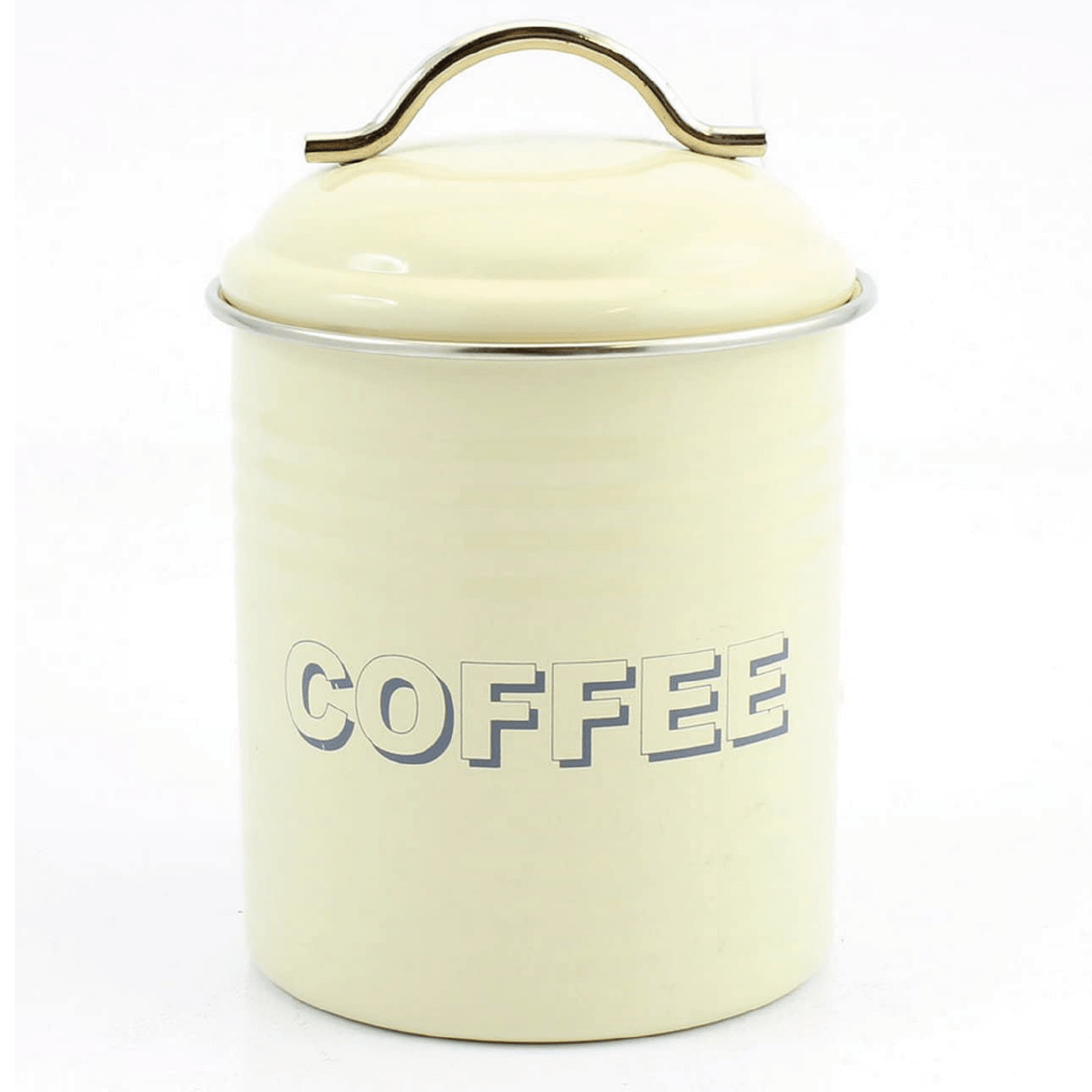 Home Sweet Home Coffee Container - Cream - only5pounds.com