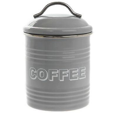 Home Sweet Home Coffee Container - Grey - only5pounds.com