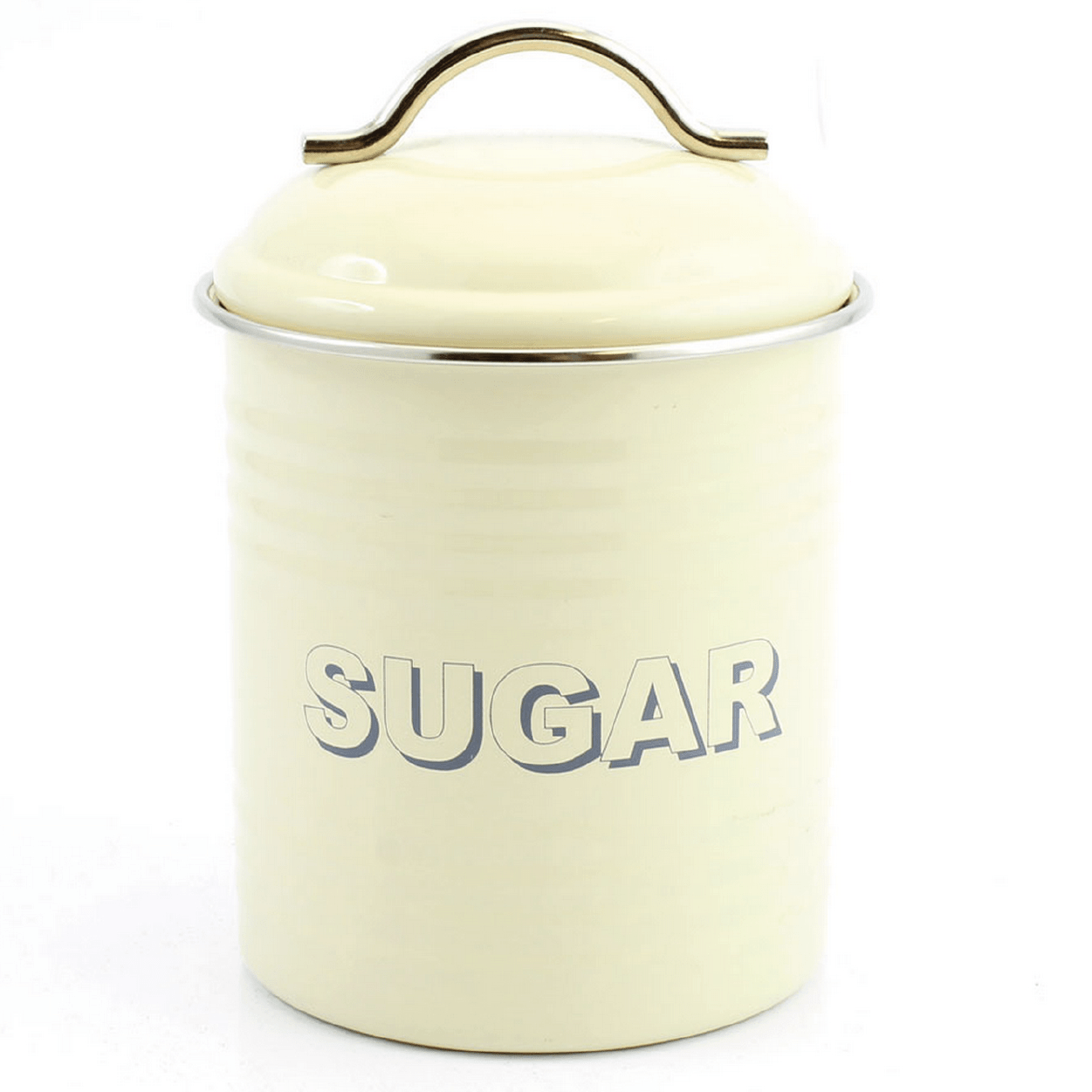 Home Sweet Home Sugar Container - Cream - only5pounds.com