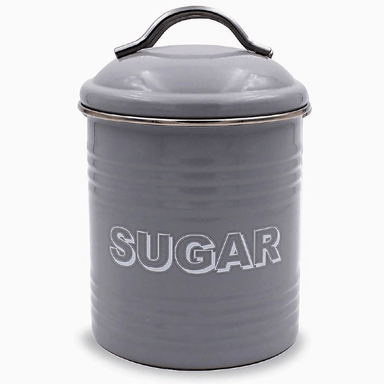 Home Sweet Home Sugar Container - Grey - only5pounds.com