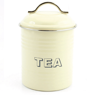 Home Sweet Home Tea Container - Cream - only5pounds.com