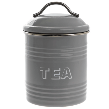 Home Sweet Home Tea Container - Grey - only5pounds.com