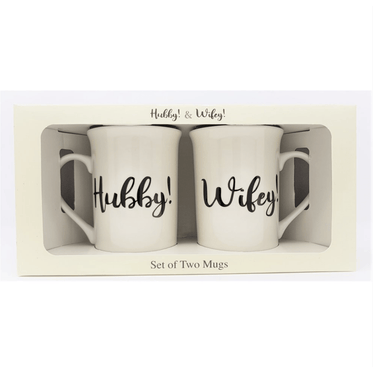 Hubby & Wife Mugs Set of Two - only5pounds.com