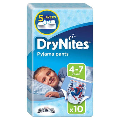 Huggies DryNites Pyjama Pants Boy 4-7 Years (17-30kgs) - 10 Pants - only5pounds.com