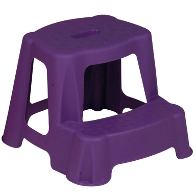 Kids 35cm Plastic Step Stool (Purple) - only5pounds.com