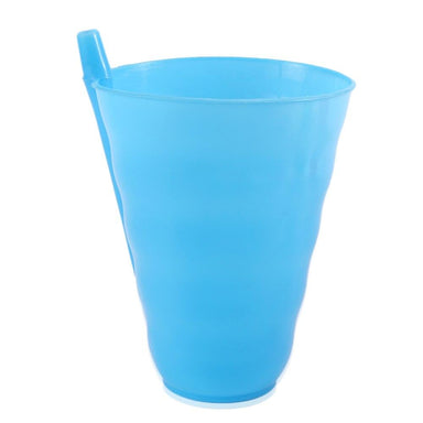 Kids Plastic Cup With Straw - Blue - only5pounds.com
