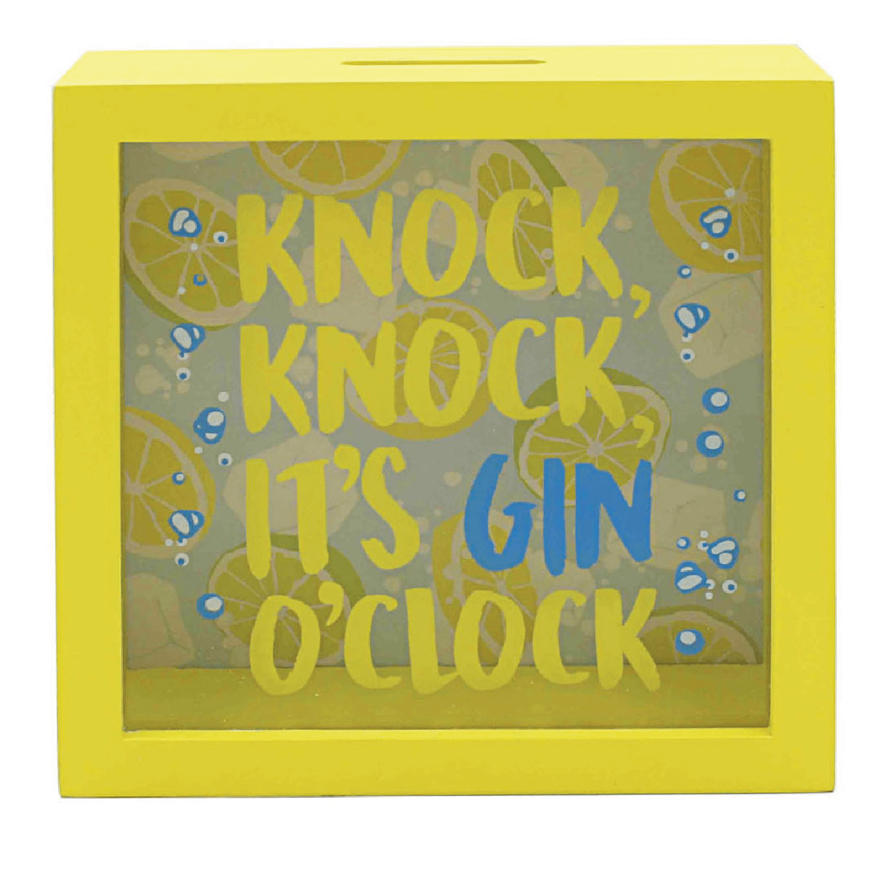 Knock, Knock It's Gin O'clock Money Box - only5pounds.com