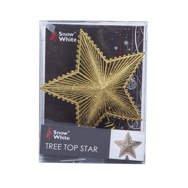 Luxury Tree Topper Glitter Star - Assorted Colours - only5pounds.com