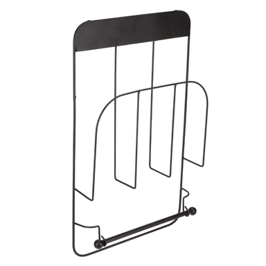 Magazine Rack With Roll Holder - Black - only5pounds.com