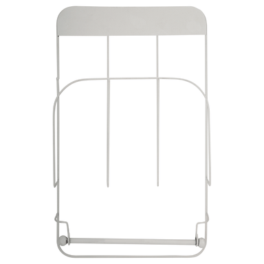 Magazine Rack With Roll Holder - White - only5pounds.com