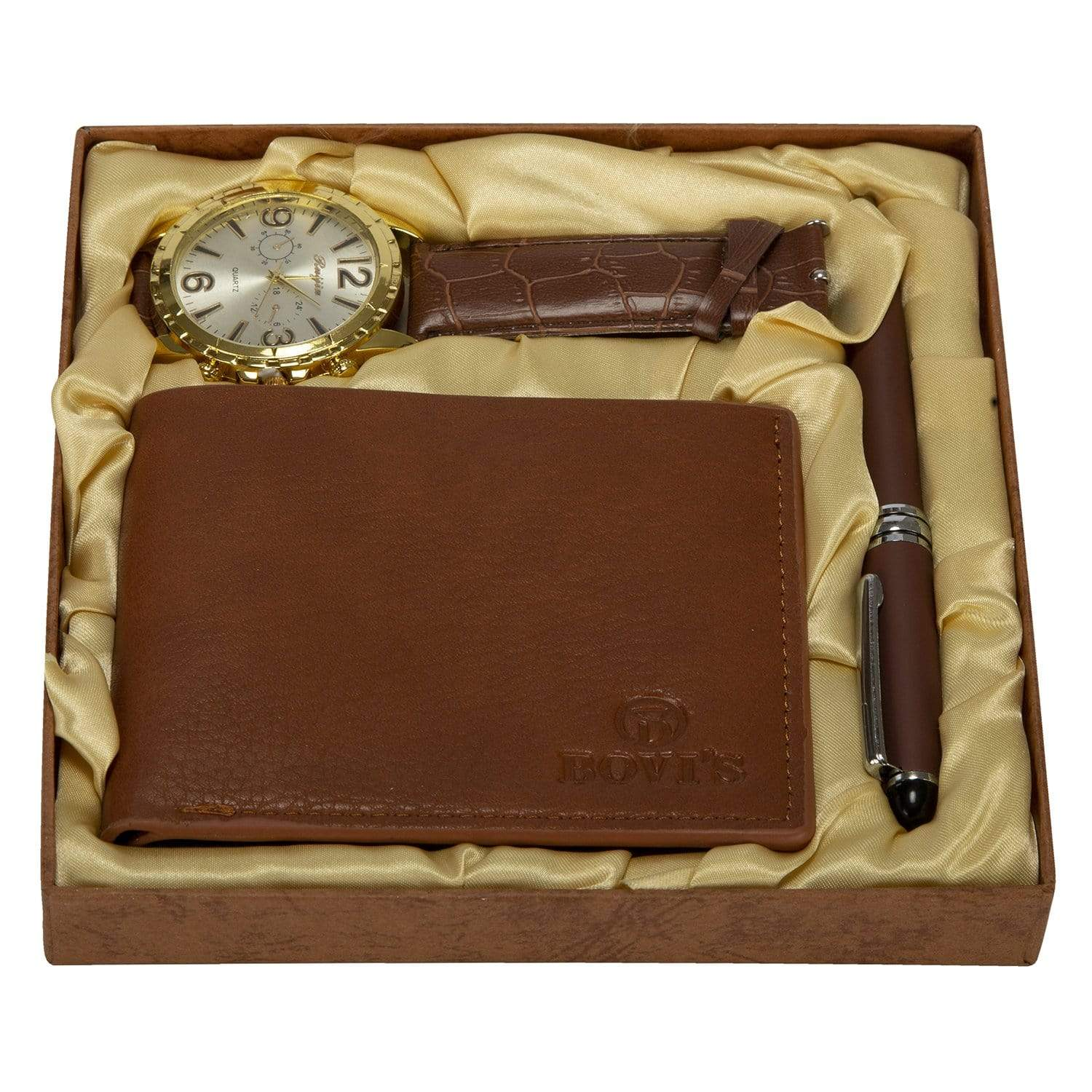 Men's Watch and Wallet Gift Set - Set of 3 - only5pounds.com