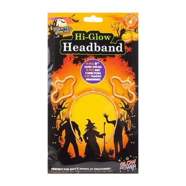 Orange Bat Glow Headband - only5pounds.com