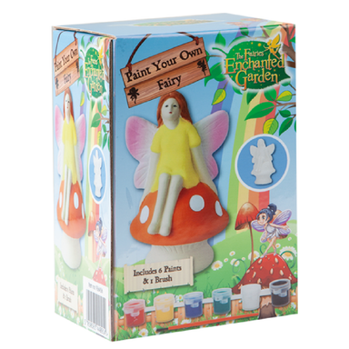 Paint Your Own Fairy On a Toad Stool With 6 Paints - only5pounds.com