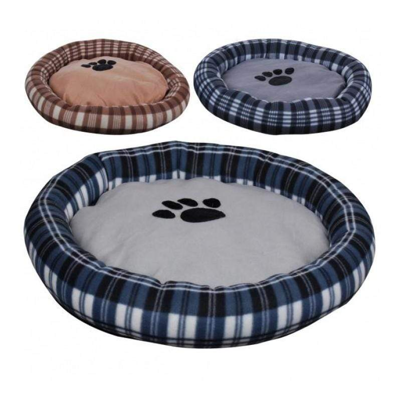 Plaid Dog Bed - Brown 5414886291639