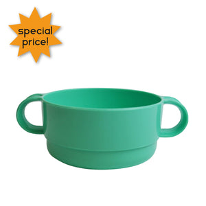 Plastic Soup Bowl With Handles - Green 8718964035007