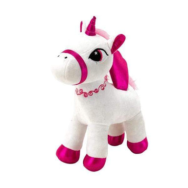 Plush White and Pink Unicorn Pony - 36cm - only5pounds.com