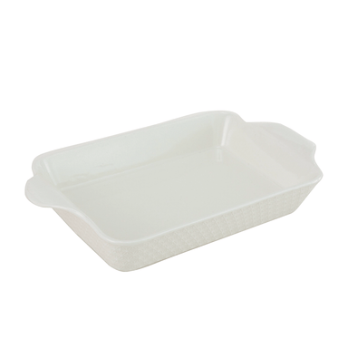 Porcelain Oven to Table Dish Large White - 37cm - only5pounds.com