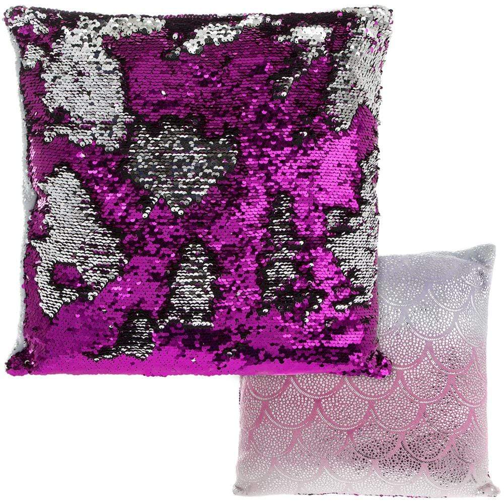 Rainbow Sequin Cushion - 40cm - only5pounds.com