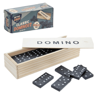 Retro Wooden Dominoes Game - only5pounds.com