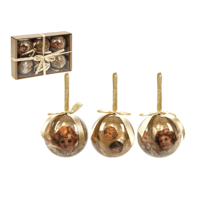 Set of 6 Baubles - Cherub - only5pounds.com