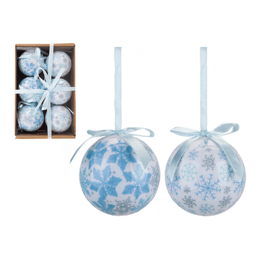 Set of 6 Baubles - Snowflake - only5pounds.com