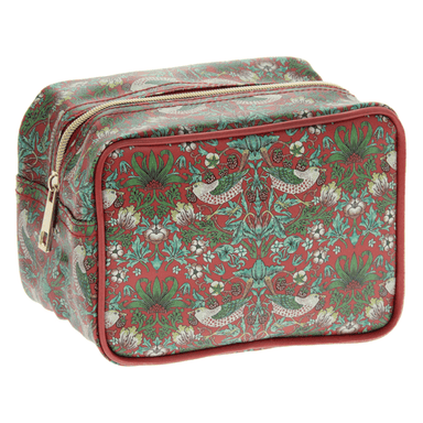Strawberry Thief Cosmetic Case Red - only5pounds.com