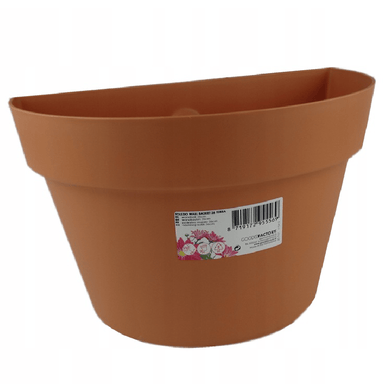 Flower Pot Wall Basket Terracotta - 26cm - only5pounds.com
