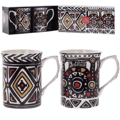 Tribal Mugs Gift Box - Set of 2 - only5pounds.com