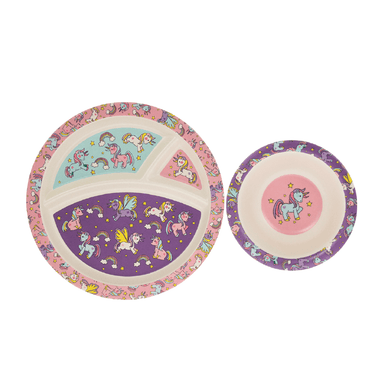 Unicorns Bamboo Eating Set - only5pounds.com
