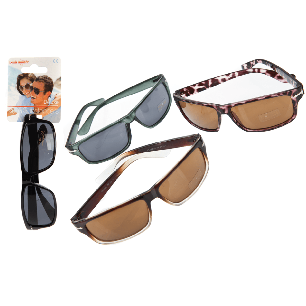 Unisex Classic Style Sunglasses - Assorted Designs - only5pounds.com