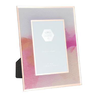 "Rose Gold Watercolour Photo Frame - 4 x 6"" - only5pounds.com"