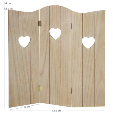 Oak Hearts Window Decorative Screen - 59 x 57cm - only5pounds.com