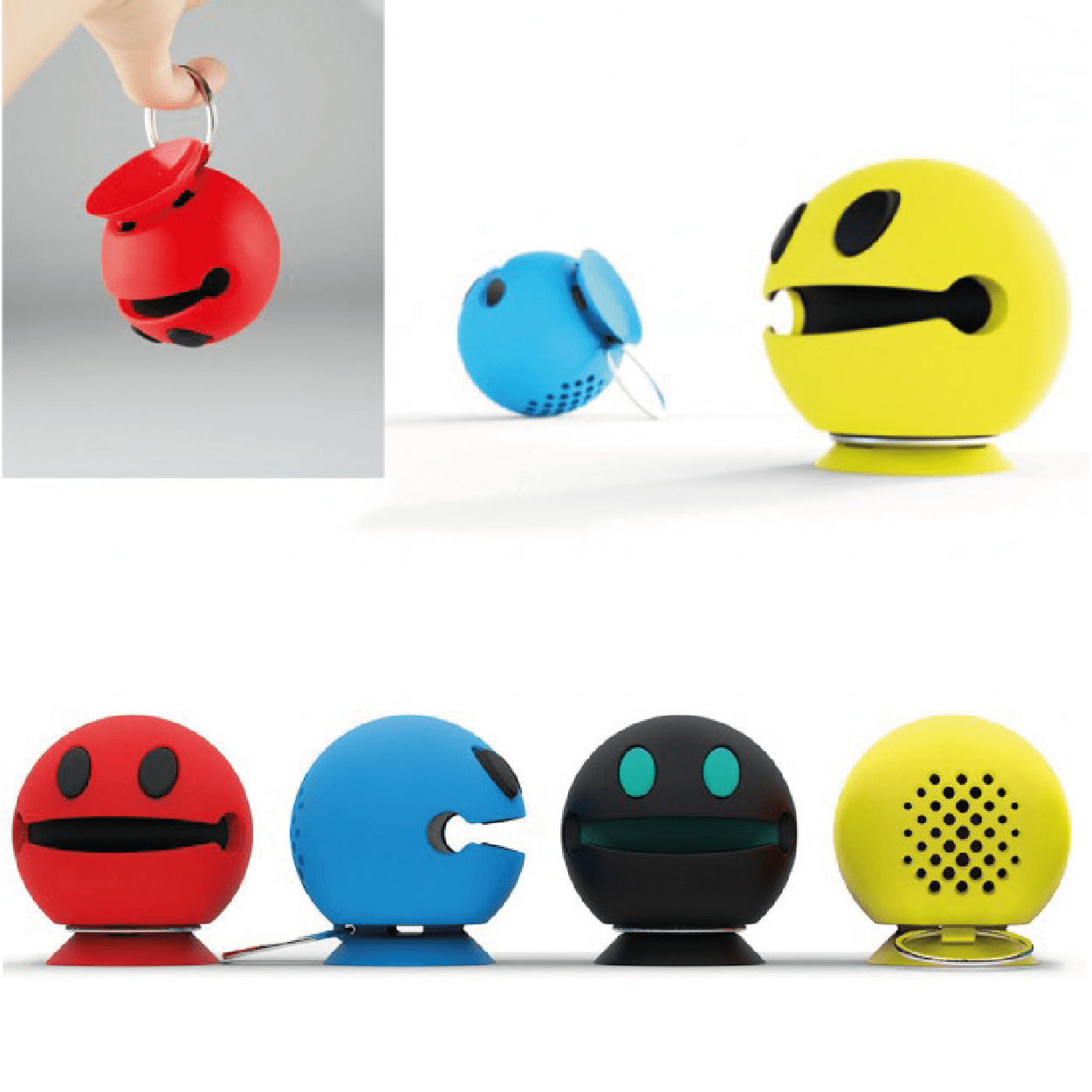 Wireless Happy Bluetooth Speaker - Assorted Colours - only5pounds.com