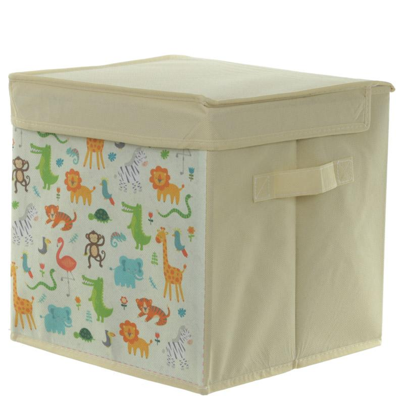 Zoo Canvas Storage Box - 28 x 27cm - only5pounds.com