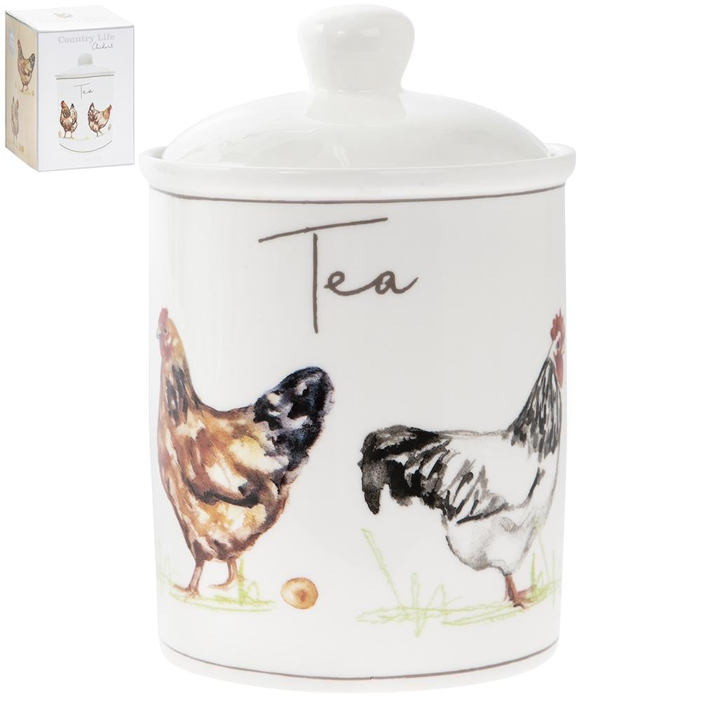 Country Life Chickens Fine China Tea Canister - 16cm 5010792936031