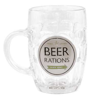Dad's Army Beer Rations Pint Glass - only5pounds.com