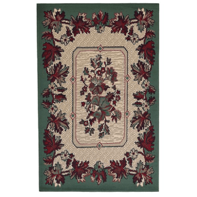 Green Traditional Tehran Rug - 80 x 150cm - only5pounds.com