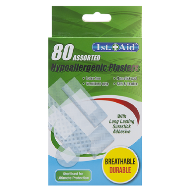 Hypoallergenic Plasters - Pack of 80 5050565357861