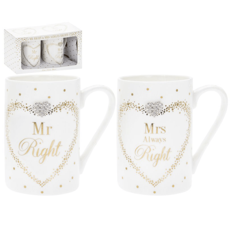 Maddots Mr/Mrs Right Mugs 5010792339146