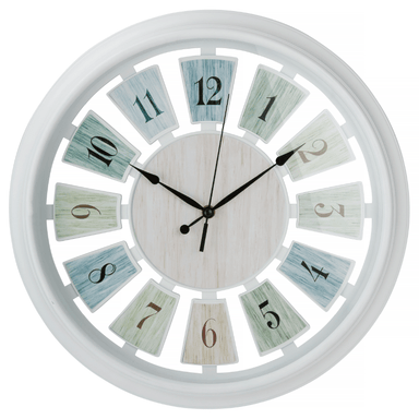 Pastel Painted Clock - 40cm - only5pounds.com