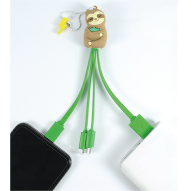 MojiPower Sleepy Sloth Multi Cable Charger - only5pounds.com