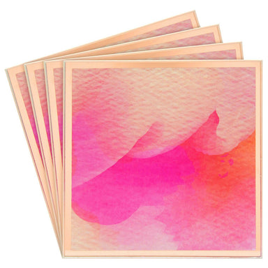Pink Watercolour Glass Coasters - Set of 4 5010792434629