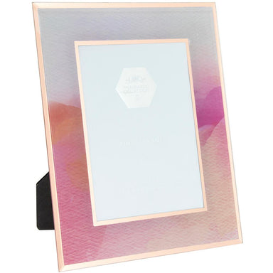 "Pink Watercolour Glass Picture Frame - 5 x 7"" 5010792434551"